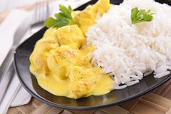 Rice and chicken curry Stock Photography