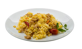 Rice with chicken and pineple Royalty Free Stock Photography