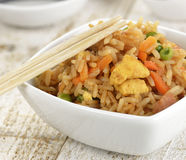 Rice With Chicken And Vegetables Stock Photo