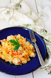 Rice with Chicken and Vegetables stock images