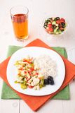 Rice with chicken and vegetables Royalty Free Stock Photography