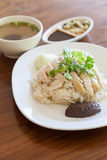 Rice with chicken Stock Photography