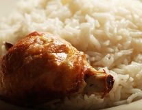 Rice with chiken Royalty Free Stock Photo