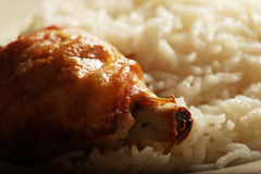 Rice with chiken Royalty Free Stock Image