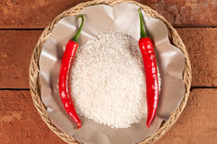 Rice and Chili Royalty Free Stock Photography