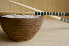 Rice and Chinese chopsticks Royalty Free Stock Photos