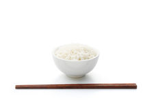 Rice and chopstick Royalty Free Stock Image