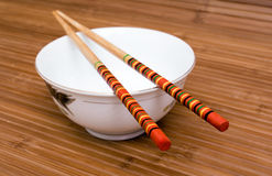 Rice and chopsticks Royalty Free Stock Images