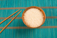 Rice and chopsticks Royalty Free Stock Photography