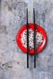 Rice with chopsticks Stock Photos