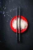 Rice with chopsticks Stock Image