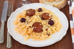 Rice with chorizo Royalty Free Stock Photography