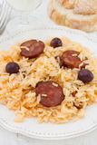 Rice with chorizo Stock Photo