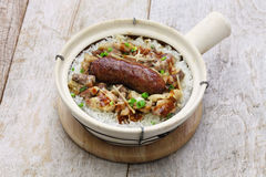Rice in clay pot, cantonese food Stock Photo
