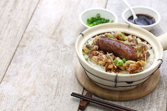 Rice in clay pot, cantonese food Stock Images