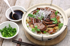 Rice in clay pot, cantonese food Royalty Free Stock Photo