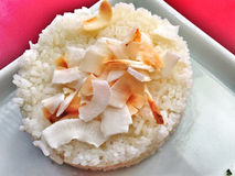 Rice with coconut dish Stock Photos