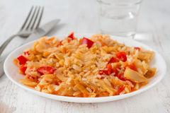 Rice with codfish Stock Image