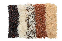 Rice collection isolated on white background Stock Photos