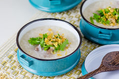 Rice congee mixed with meat Royalty Free Stock Photo