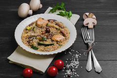 Rice cooked risotto Royalty Free Stock Photo