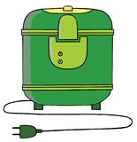 Rice Cooker. Represent a Green Rice cooker. Available in well layered vector eps 8 file Royalty Free Stock Photo
