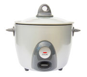 Rice cooker over white Stock Images
