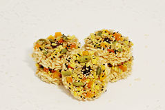 Rice cracKer with cereals food grain Royalty Free Stock Photography