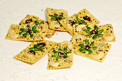 Rice cracKer with cereals food grain Stock Photos