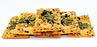 Rice cracKer with cereals food grain Stock Images