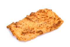 Rice cracker with pork floss isolated on white stock image