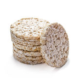 Rice cracker on white Stock Photo