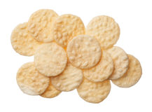 Rice crackers isolated on white background Stock Photography