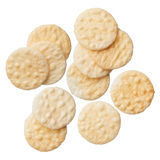 Rice crackers isolated on white background Royalty Free Stock Images