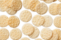 Rice crackers isolated on white background Royalty Free Stock Photography