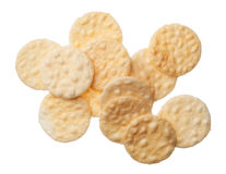 Rice crackers isolated on white background Stock Images