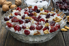 Rice with cranberries and walnuts Royalty Free Stock Images