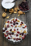 Rice with cranberries and walnuts Royalty Free Stock Image