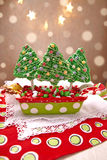 Rice crispy bars decorated for Christmas Royalty Free Stock Photo