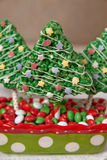 Rice crispy bars decorated for Christmas Stock Images