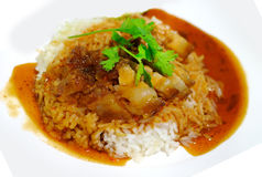Rice crispy pork.  Stock Photography
