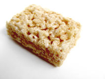 Rice Crispy Square. Cookie with white background royalty free stock images