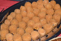 Rice croquettes Stock Images
