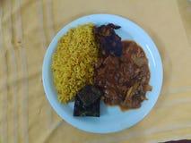Rice with cumin and tajine royalty free stock photos