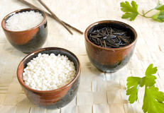 Rice cups Stock Photos