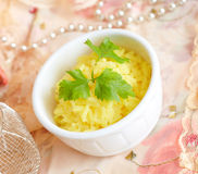 Rice with curcuma Royalty Free Stock Photos