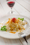 Rice with curry and saffron Royalty Free Stock Photo