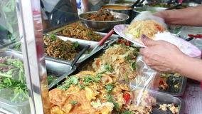 Rice and curry, the Thai food stock footage