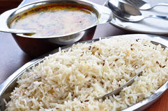 Rice and Dal Stock Photo