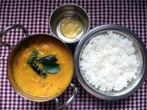 Rice and Dal Royalty Free Stock Images